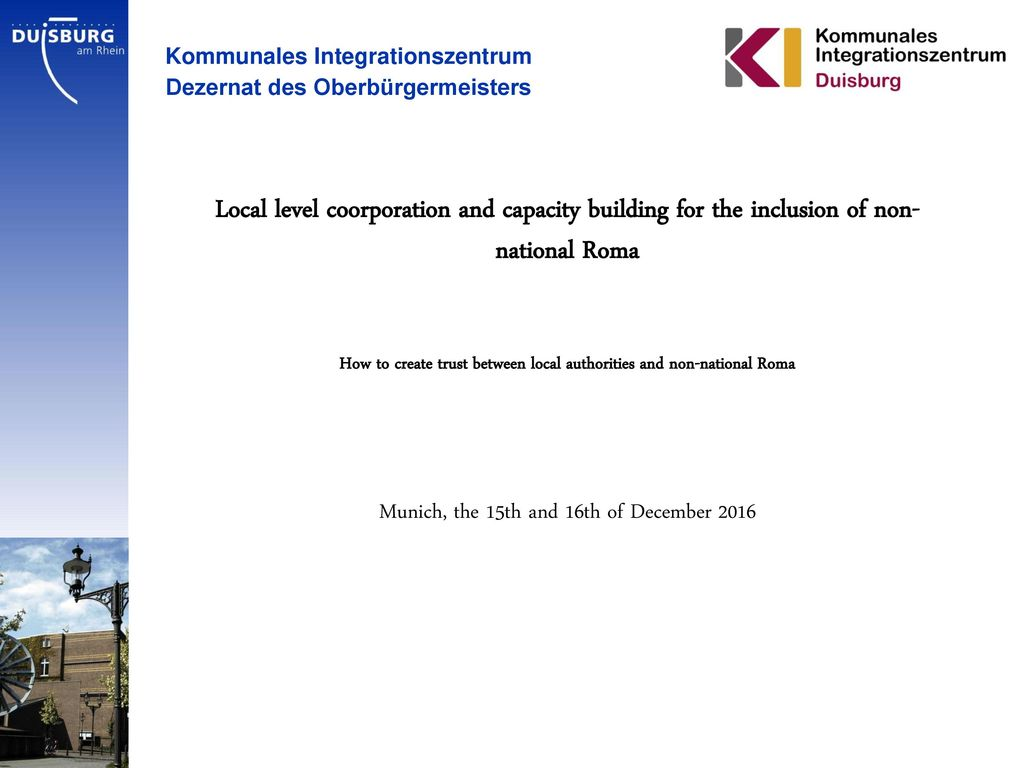 How to create trust between local authorities and non-national Roma