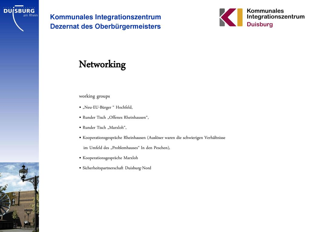 Networking Kommunales Integrationszentrum