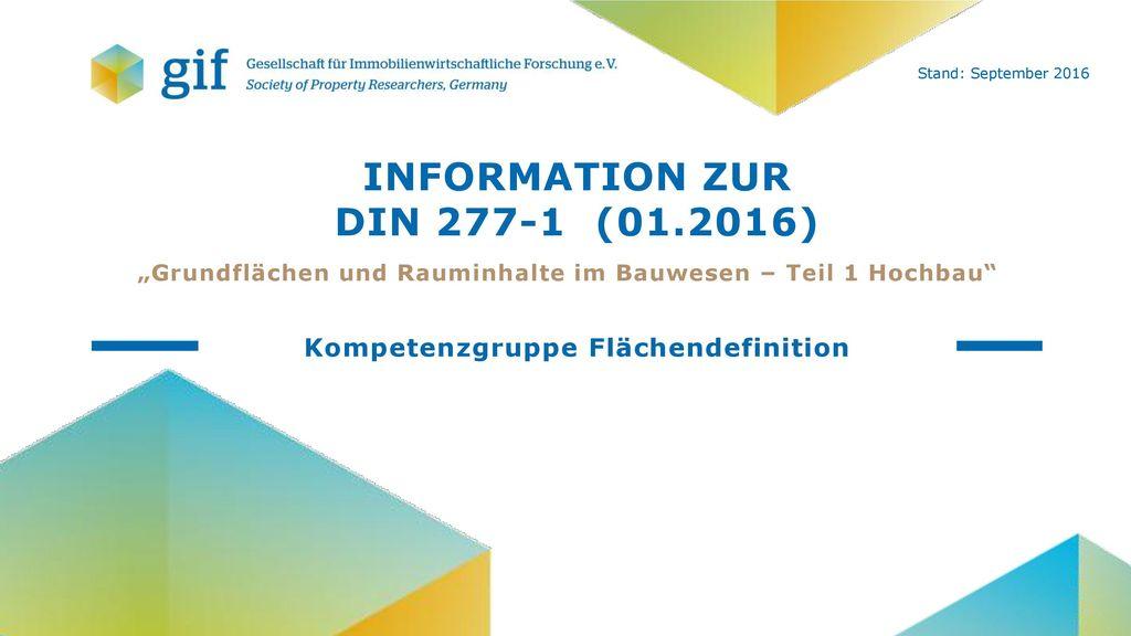 Information zur DIN 277-1 (01.2016)