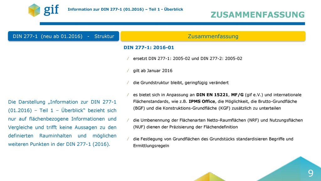 DIN 277-1 (neu ab 01.2016) - Struktur