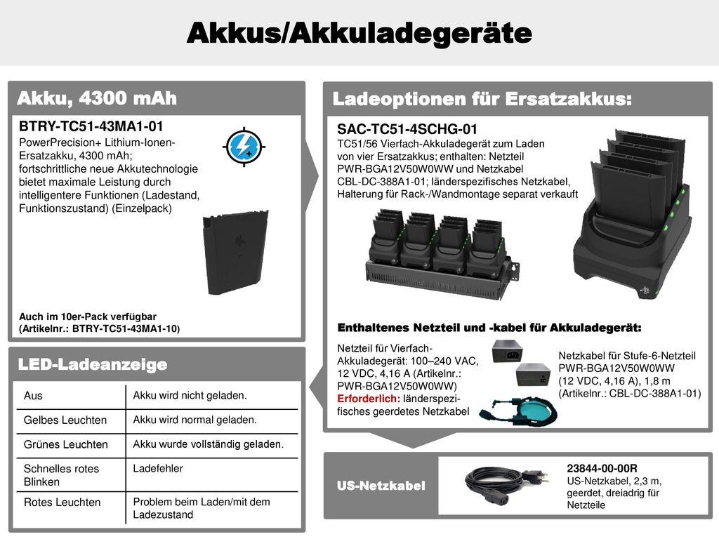 Akkus/Akkuladegeräte
