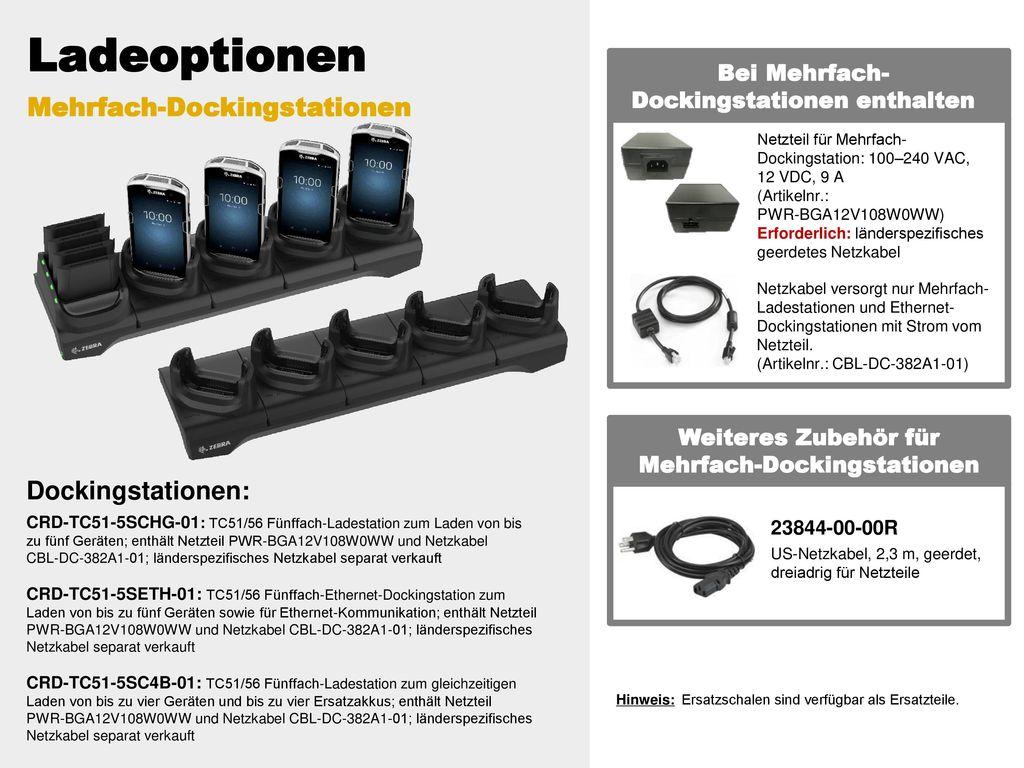 Ladeoptionen Mehrfach-Dockingstationen Dockingstationen: