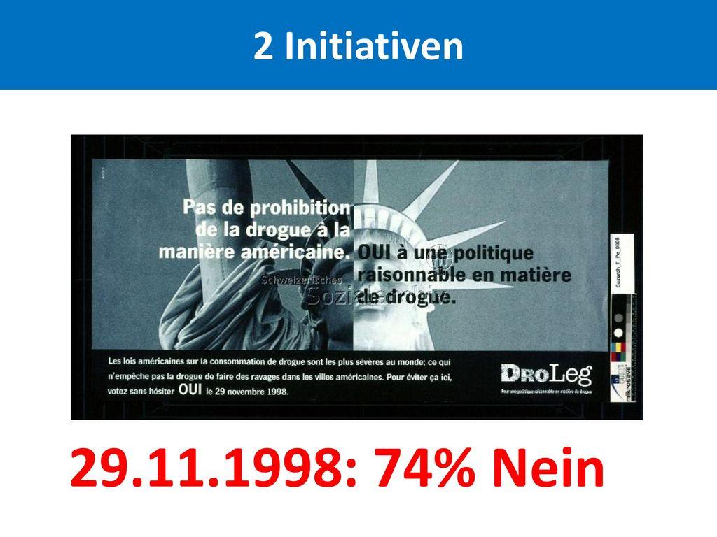 2 Initiativen 29.11.1998: 74% Nein