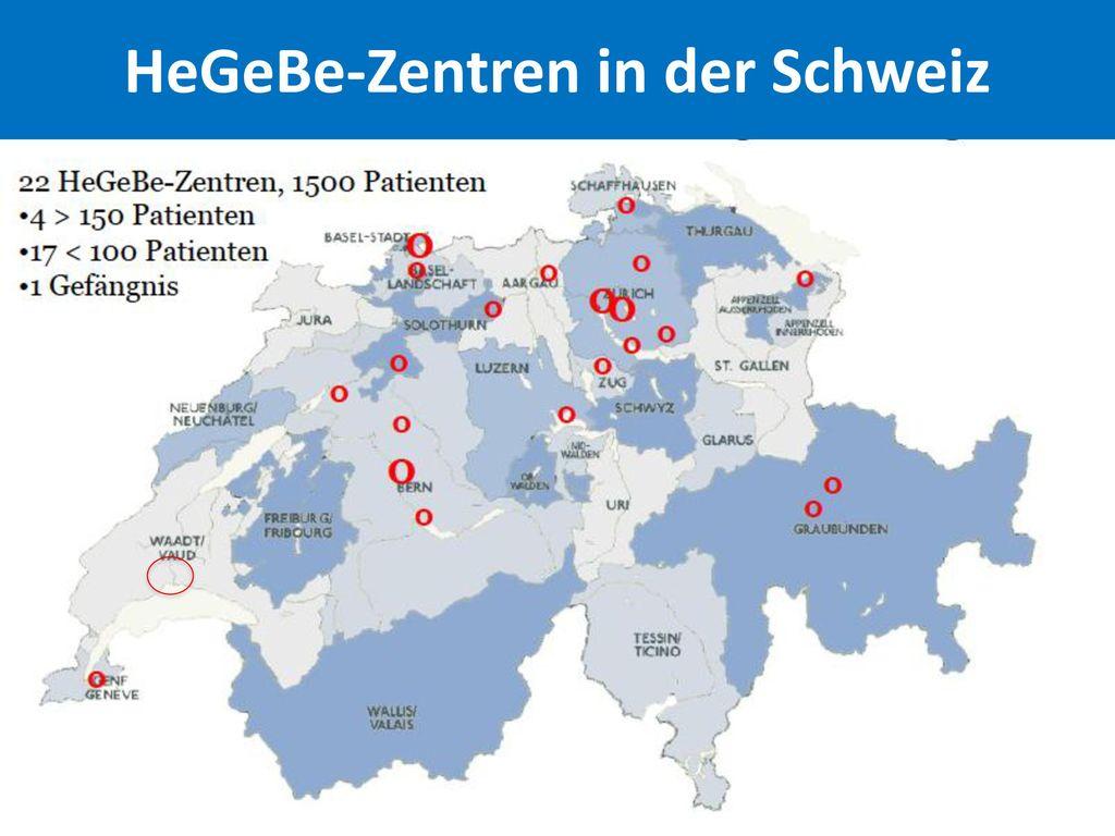 HeGeBe-Zentren in der Schweiz