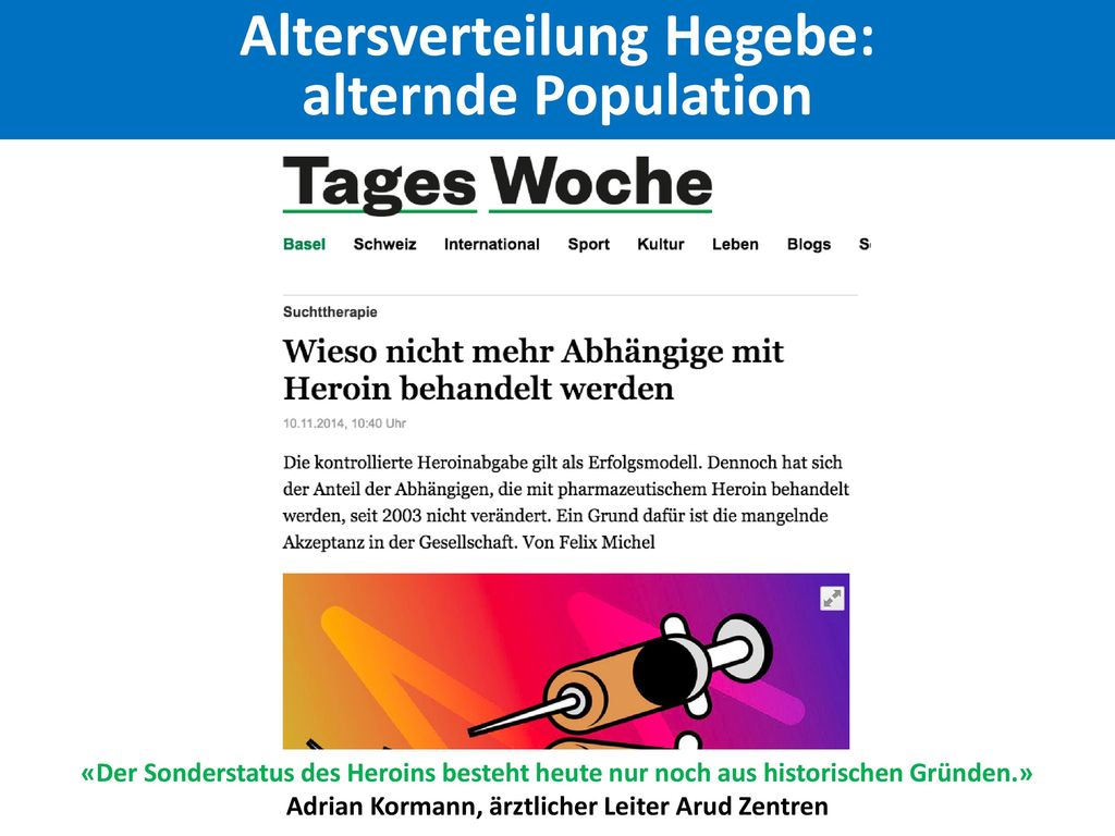 Altersverteilung Hegebe: alternde Population