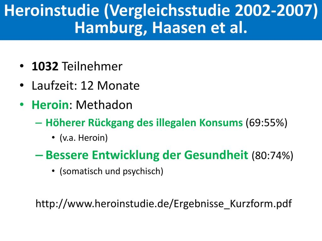 Heroinstudie (Vergleichsstudie 2002-2007)