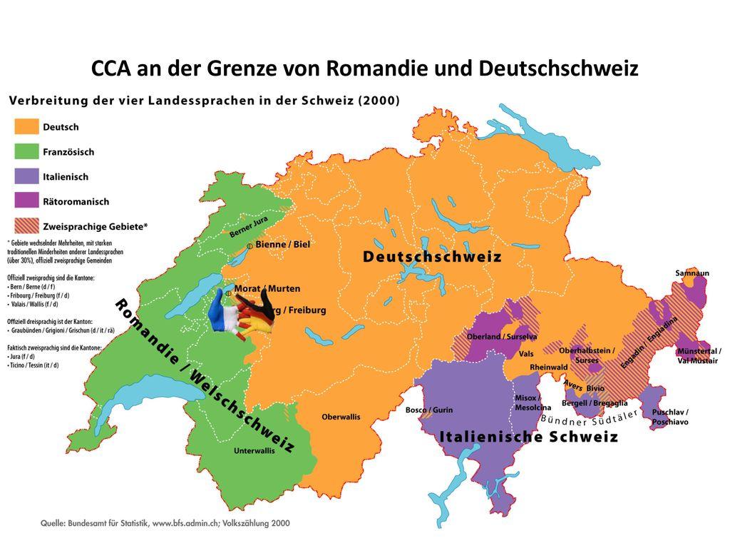 CCA an der Grenze von Romandie und Deutschschweiz
