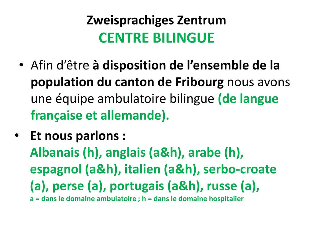 Zweisprachiges Zentrum CENTRE BILINGUE