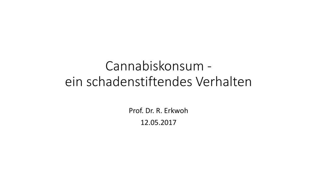 Cannabiskonsum - ein schadenstiftendes Verhalten