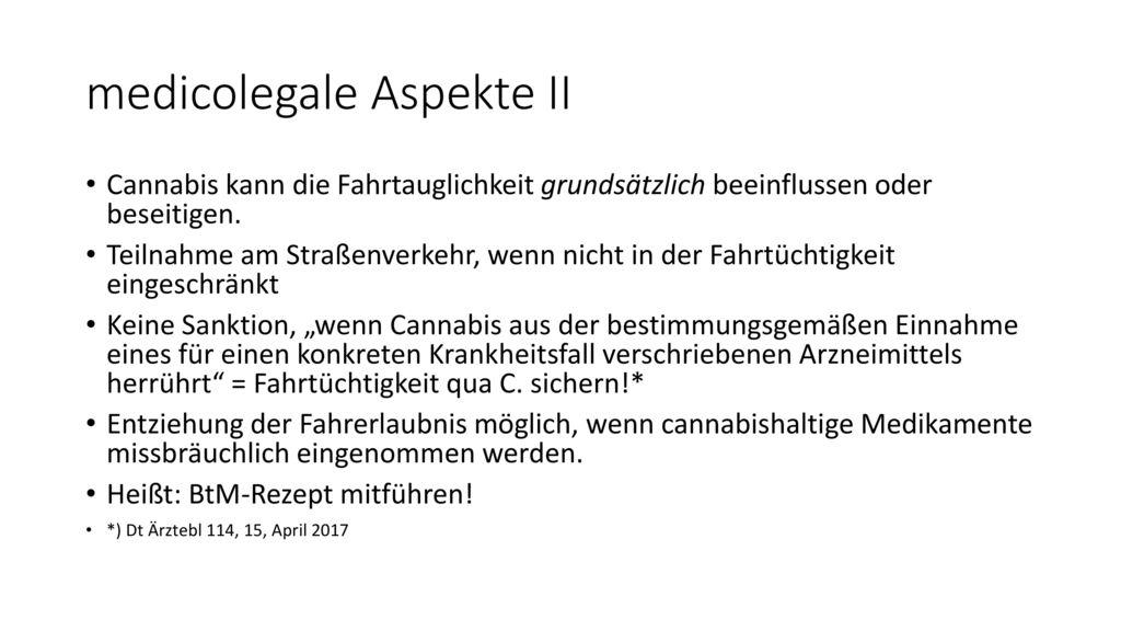 medicolegale Aspekte II