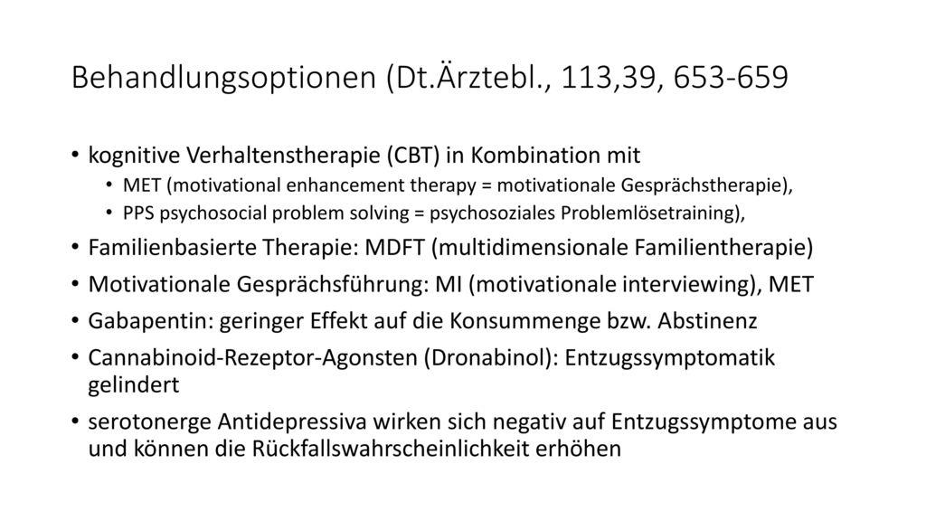 Behandlungsoptionen (Dt.Ärztebl., 113,39, 653-659