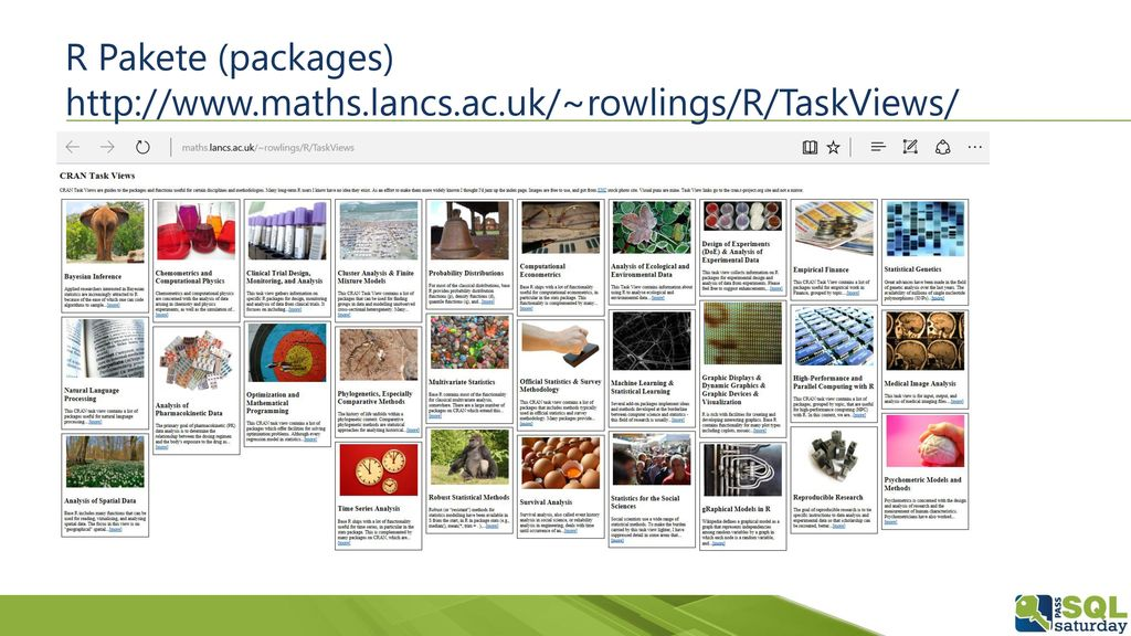 R Pakete (packages)   maths. lancs. ac