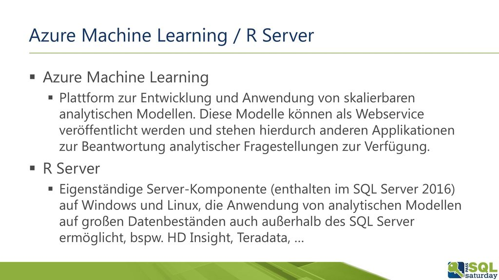 Azure Machine Learning / R Server