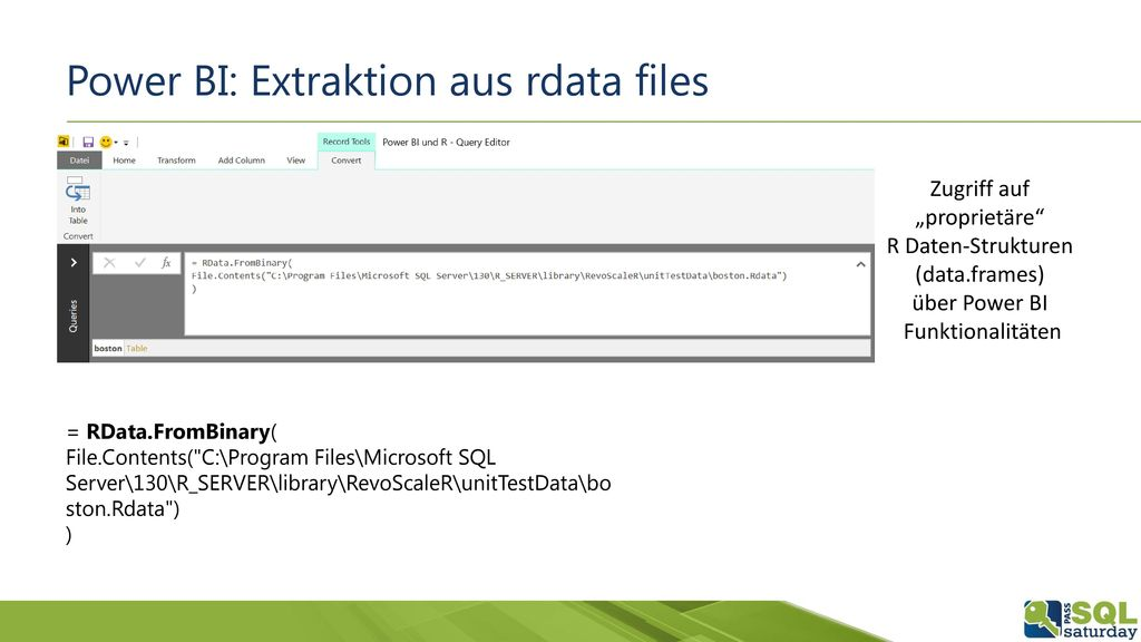 Power BI: Extraktion aus rdata files