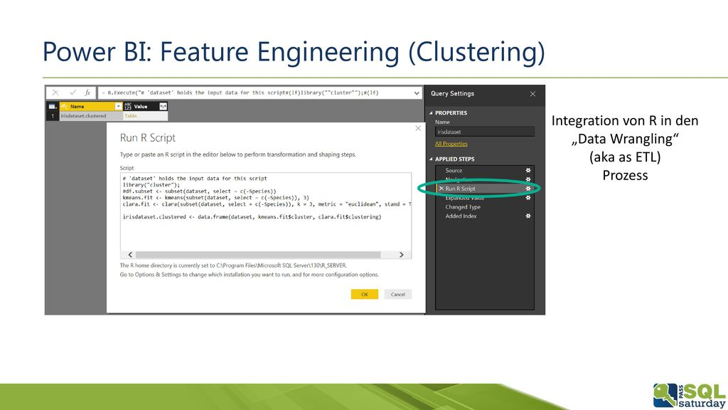 Power BI: Feature Engineering (Clustering)