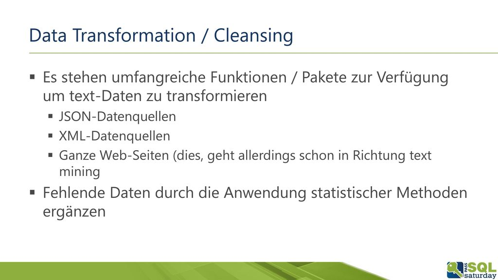 Data Transformation / Cleansing