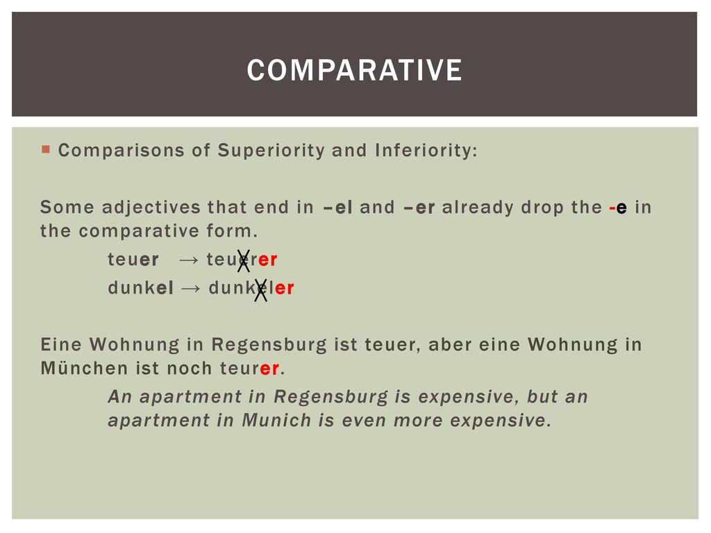Comparative Comparisons of Superiority and Inferiority: