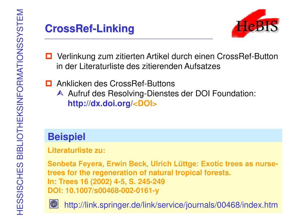 CrossRef-Linking Beispiel