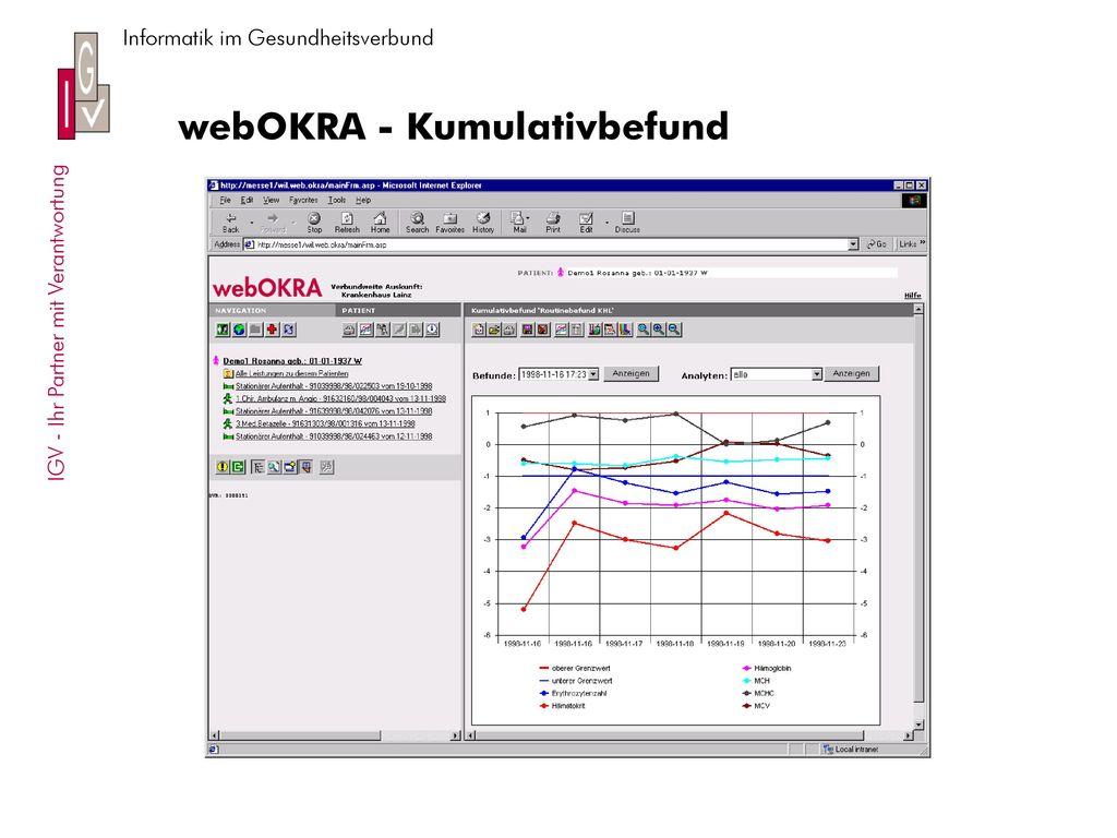 webOKRA - Kumulativbefund