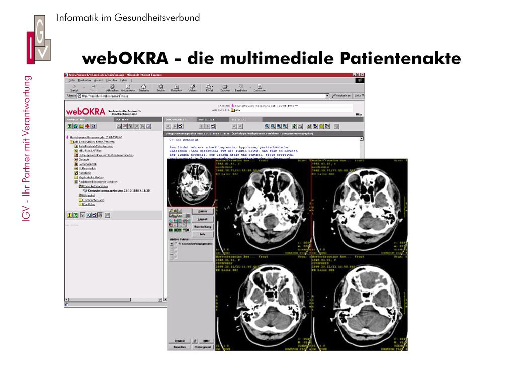 webOKRA - die multimediale Patientenakte