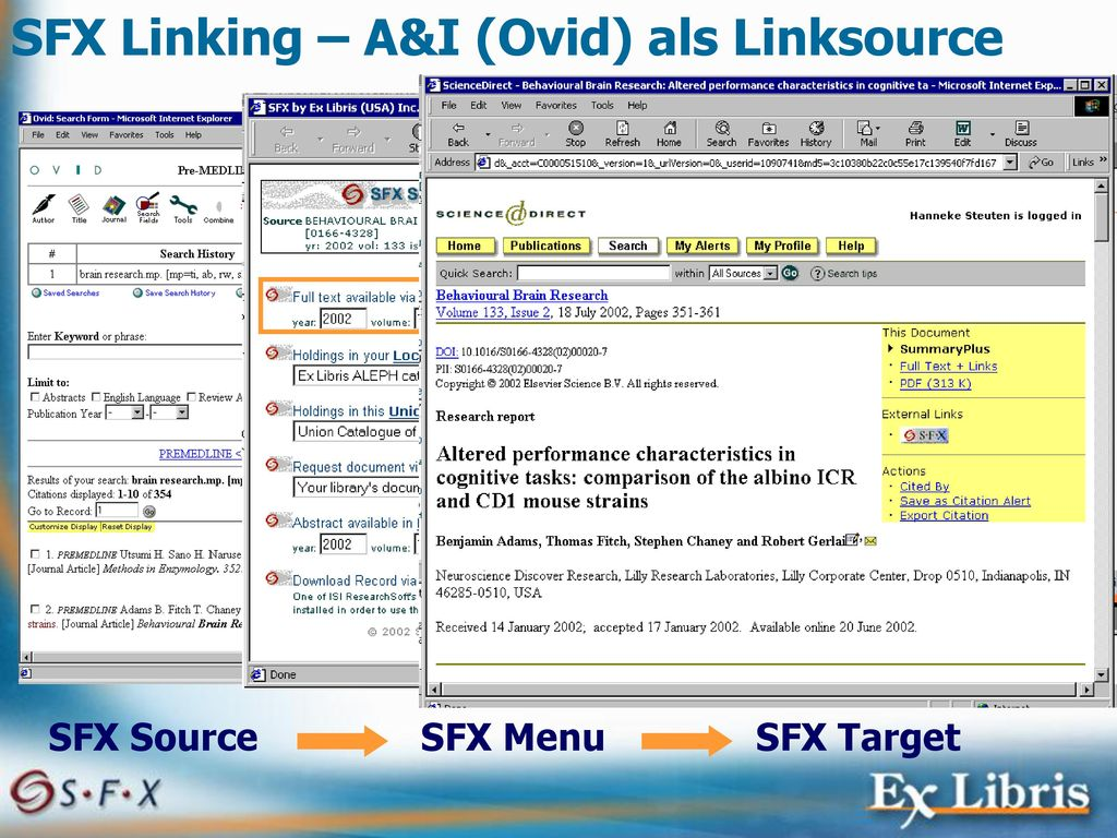 SFX Linking – A&I (Ovid) als Linksource
