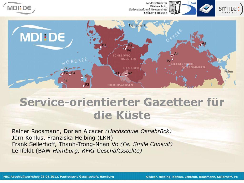 Service-orientierter Gazetteer für die Küste