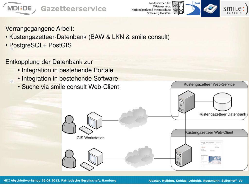 Gazetteerservice Vorrangegangene Arbeit: