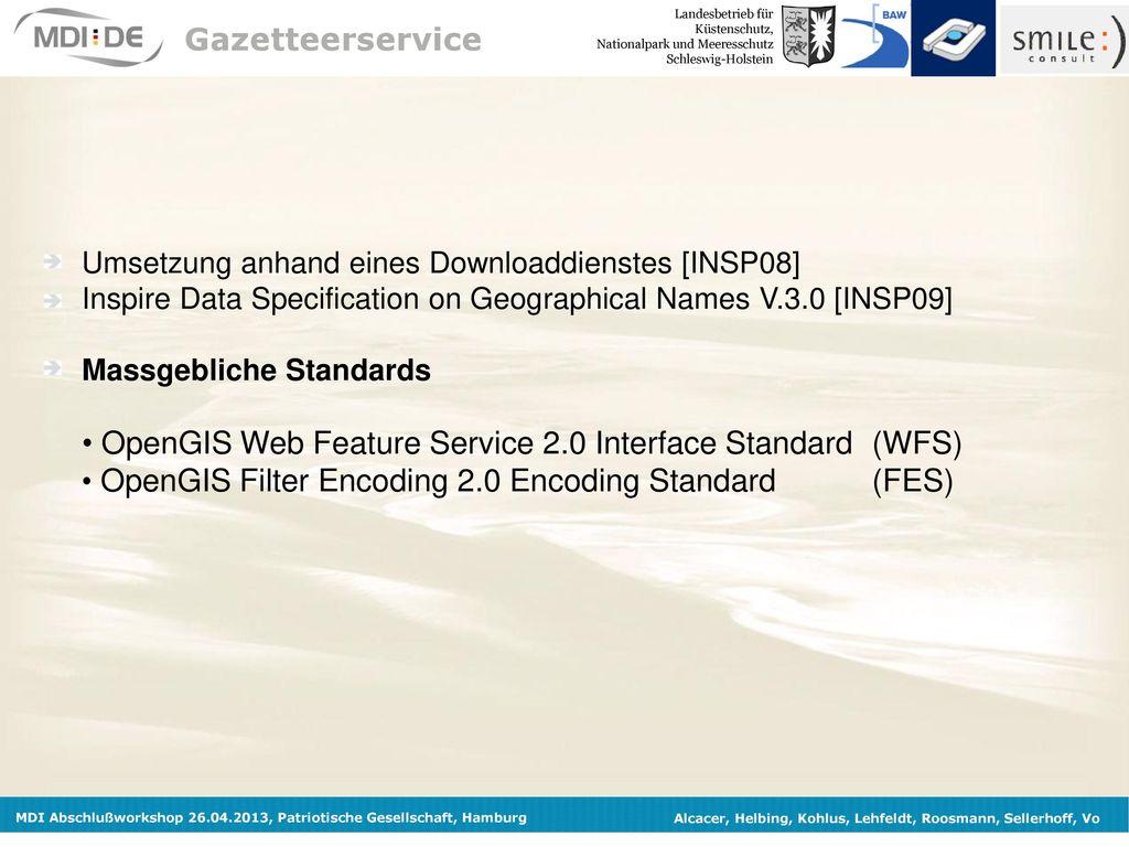 OpenGIS Web Feature Service 2.0 Interface Standard (WFS)