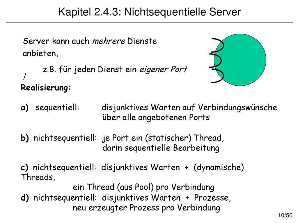 Kapitel 2.4.3: Nichtsequentielle Server