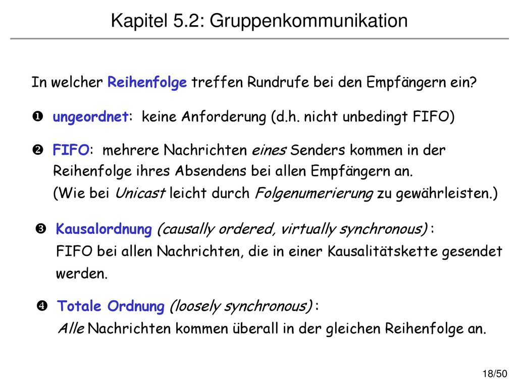 Kapitel 5.2: Gruppenkommunikation