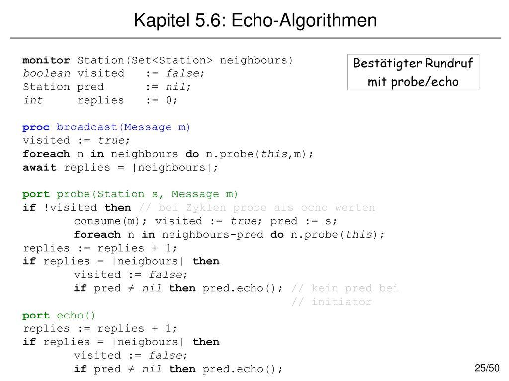 Kapitel 5.6: Echo-Algorithmen