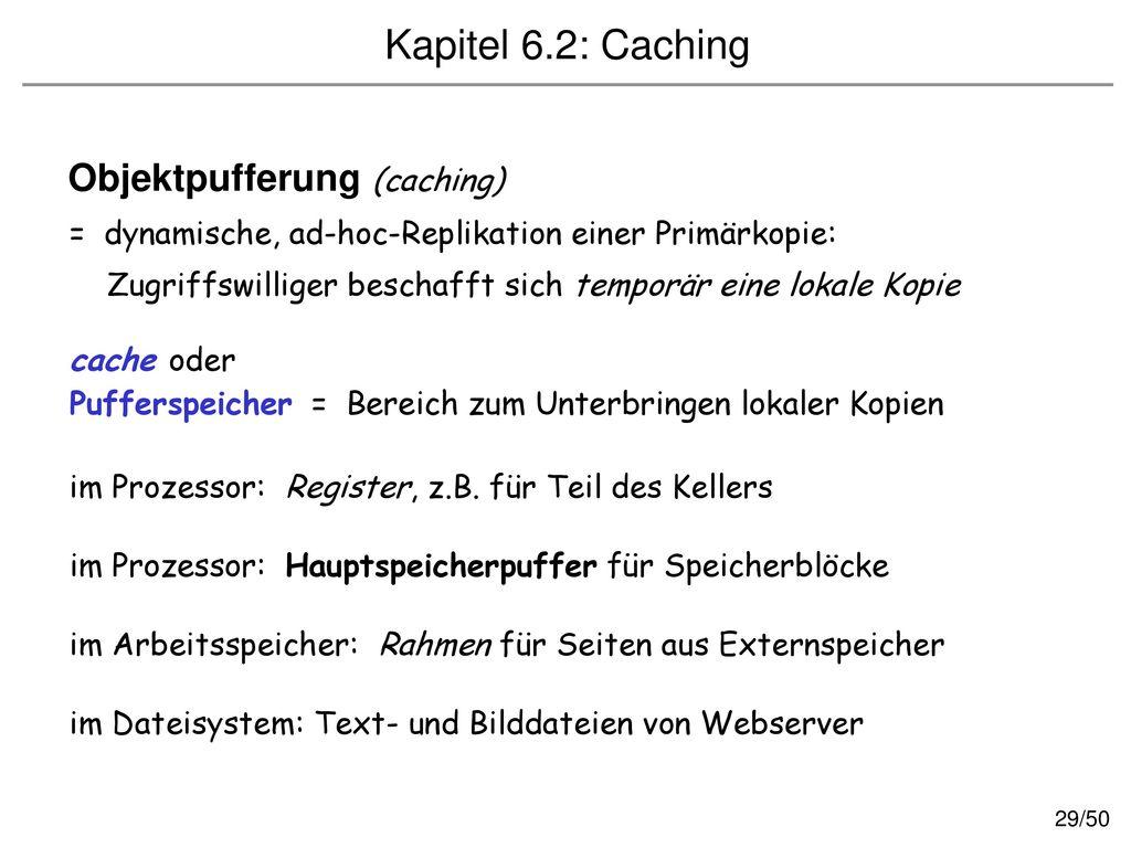 Objektpufferung (caching)