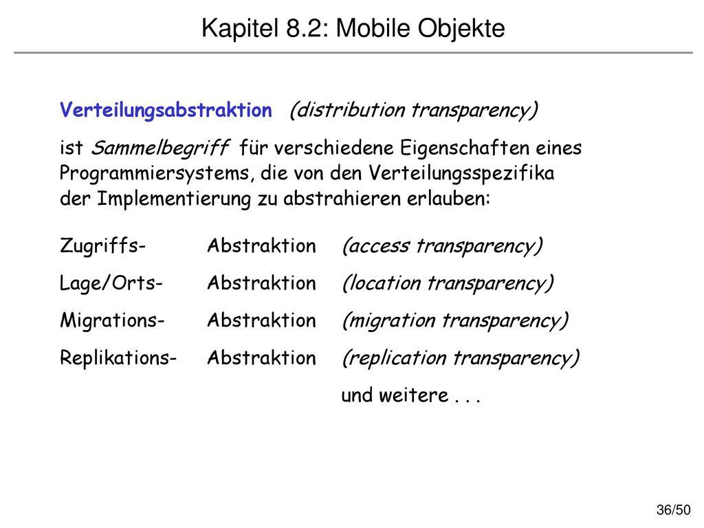 Kapitel 8.2: Mobile Objekte