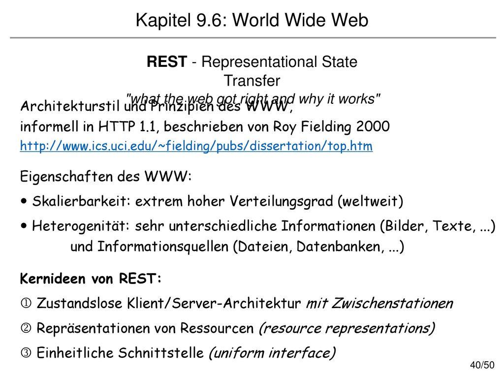 Kapitel 9.6: World Wide Web