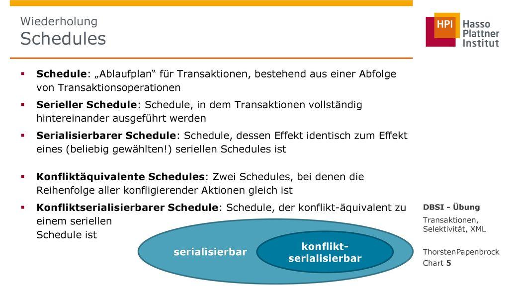 Wiederholung Schedules