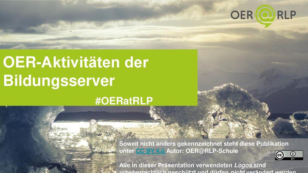 OER-Aktivitäten der Bildungsserver #OERatRLP