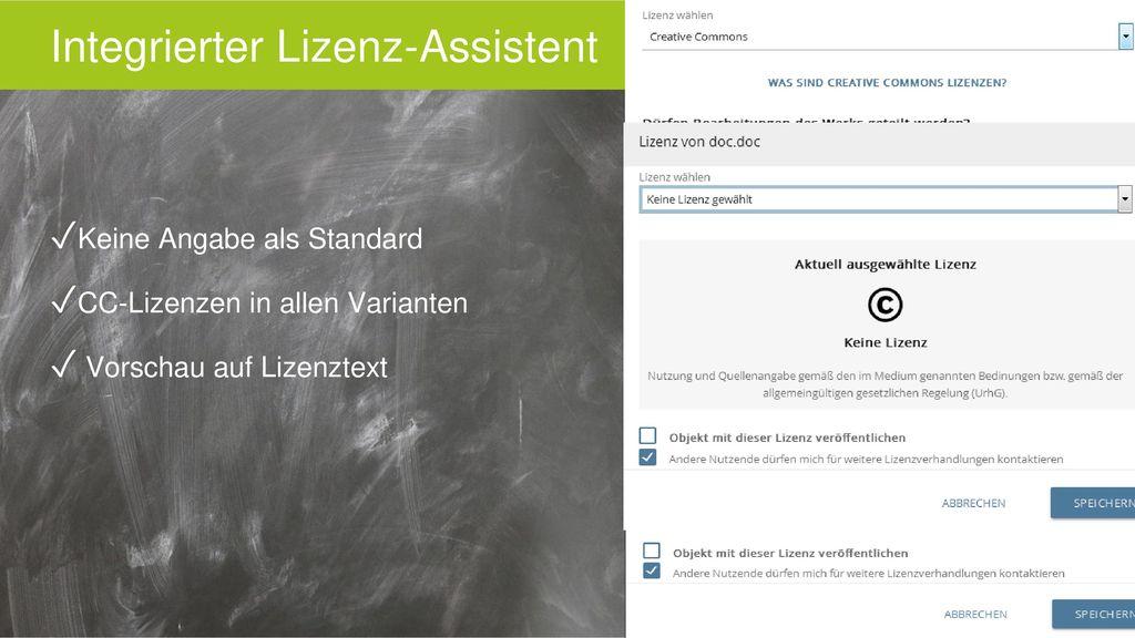 Integrierter Lizenz-Assistent