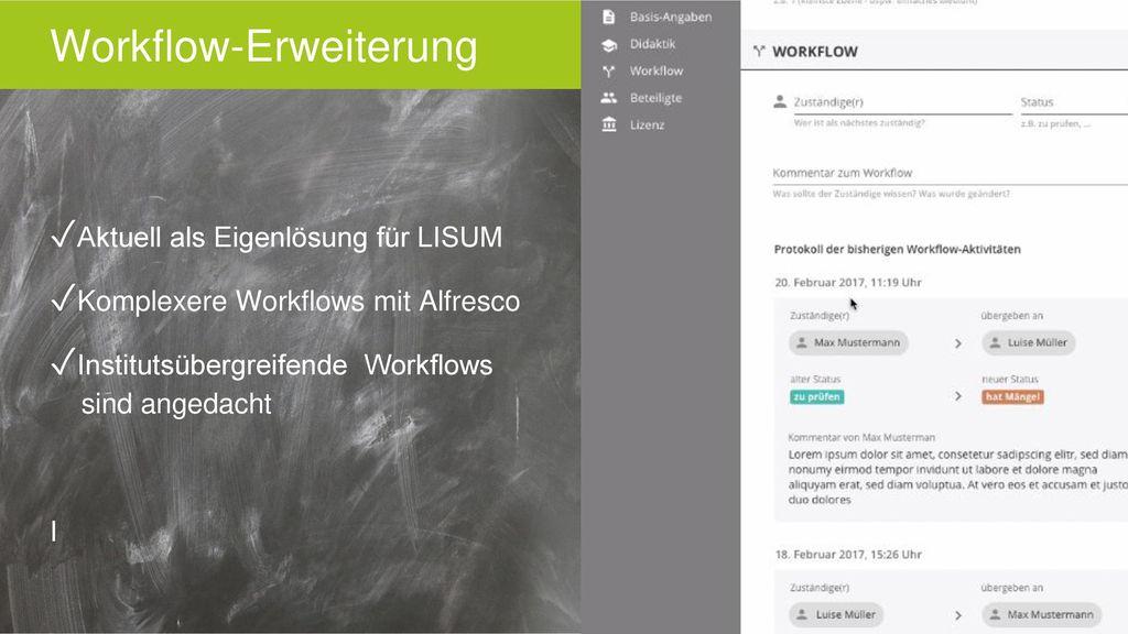 Workflow-Erweiterung