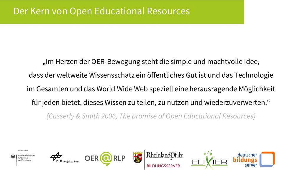 Der Kern von Open Educational Resources
