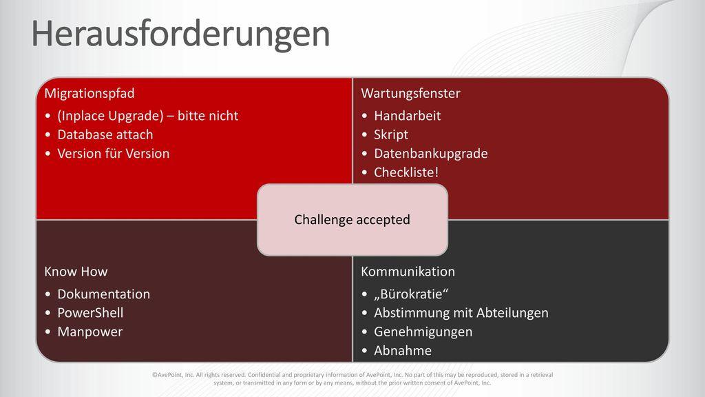 Herausforderungen Challenge accepted Migrationspfad