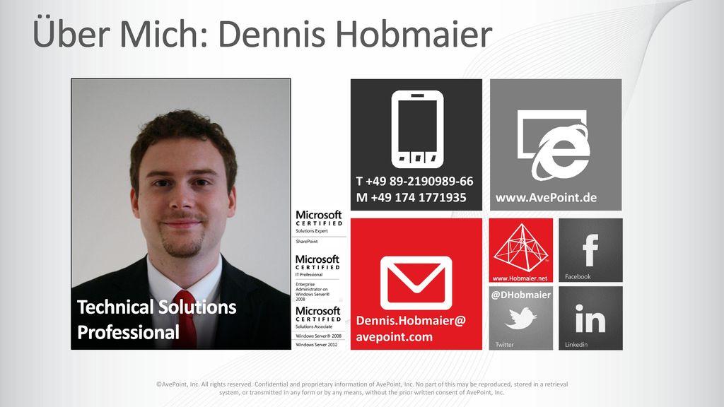Über Mich: Dennis Hobmaier