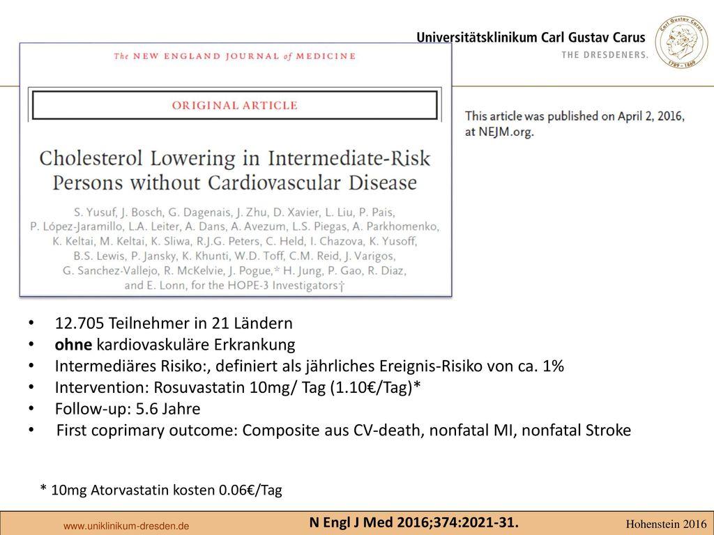 ohne kardiovaskuläre Erkrankung