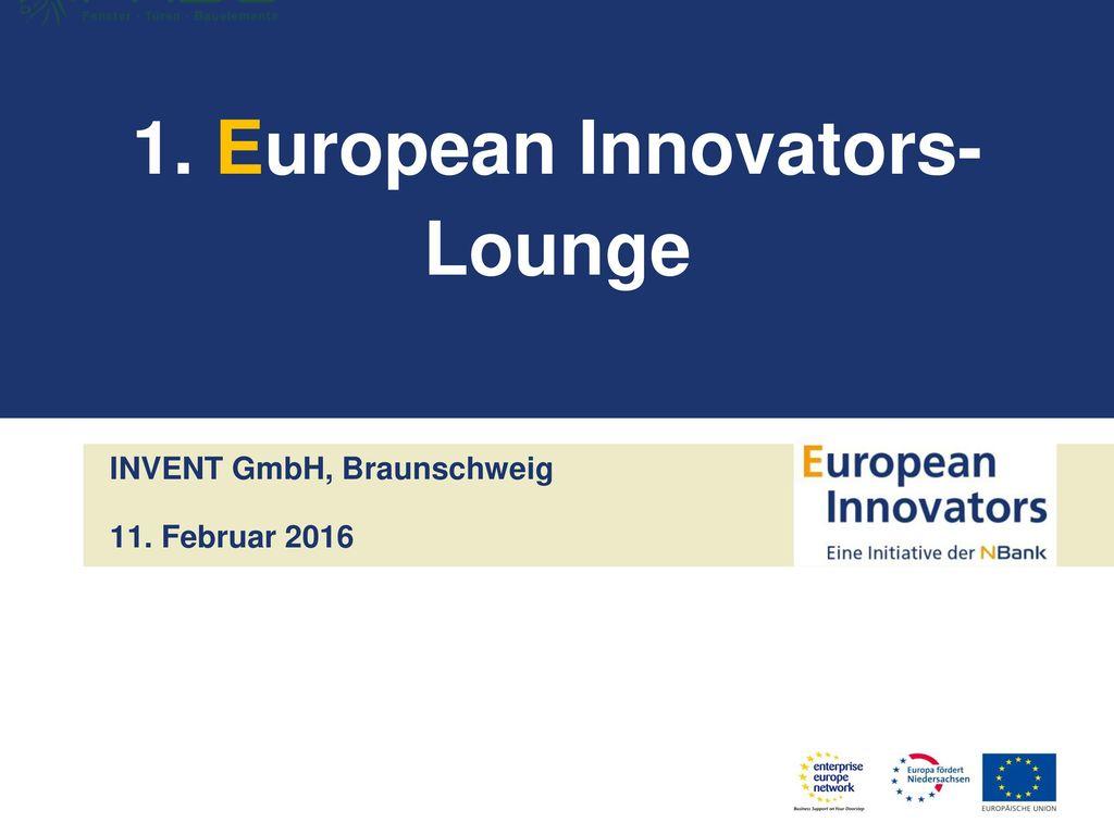 1. European Innovators-Lounge