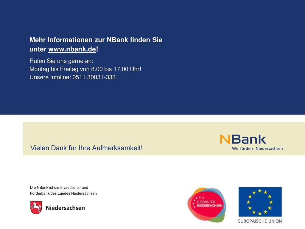 Mehr Informationen zur NBank finden Sie unter www.nbank.de!