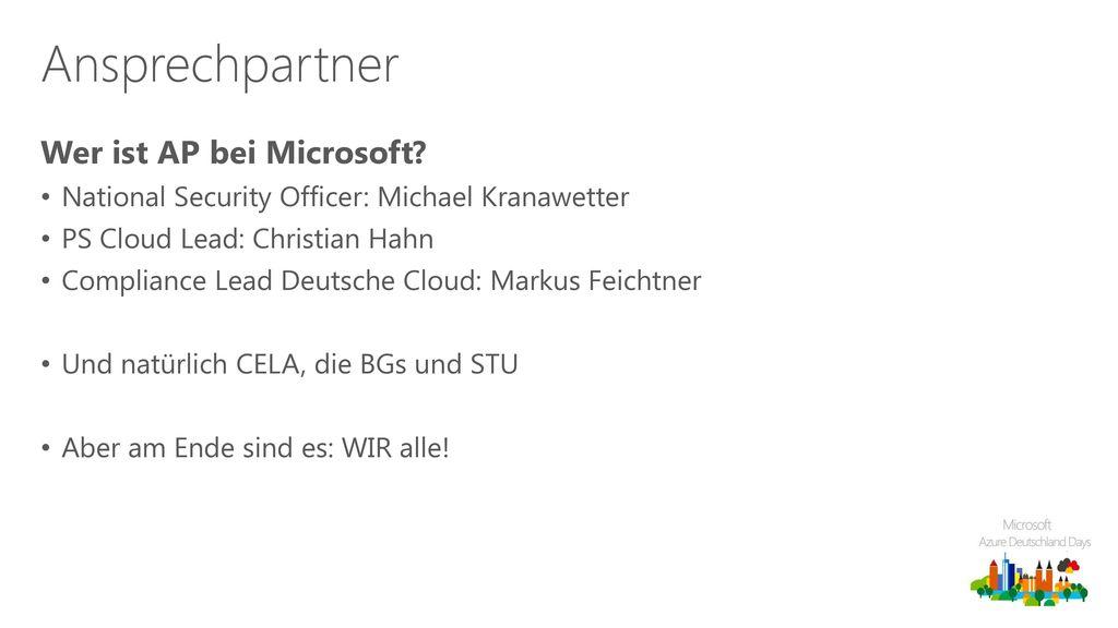 Ansprechpartner Wer ist AP bei Microsoft