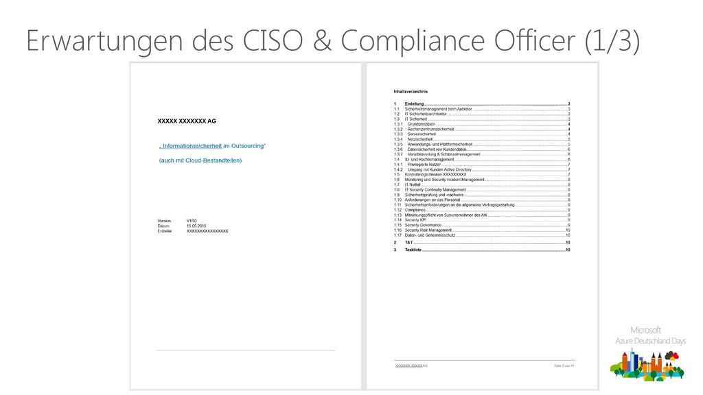 Erwartungen des CISO & Compliance Officer (1/3)