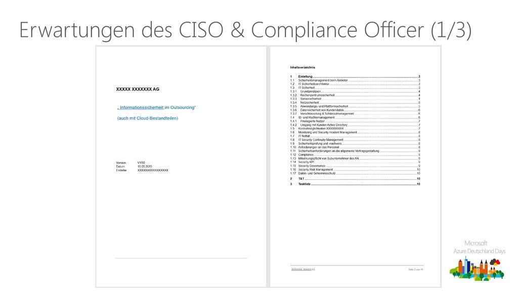 Erwartungen des CISO & Compliance Officer (1/3)