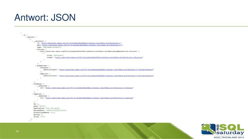 Antwort: JSON