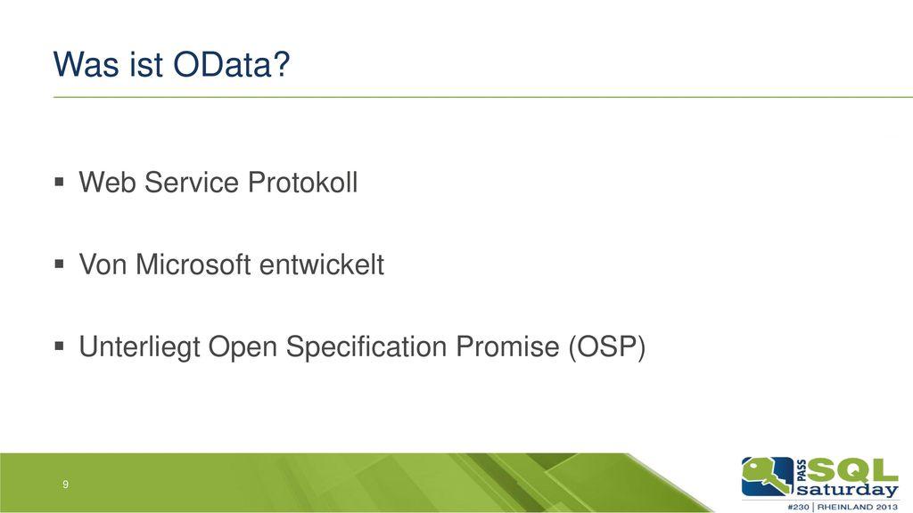 Was ist OData Web Service Protokoll Von Microsoft entwickelt