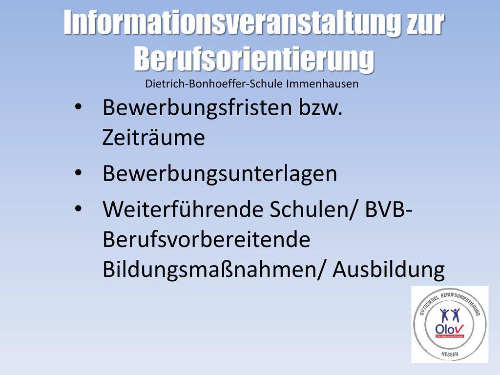 Informationsveranstaltung zur Berufsorientierung
